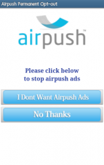 AirPush Permanent  Opt-Out スクリーンショット