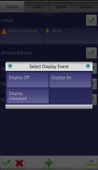 Tasker Displayイベント選択